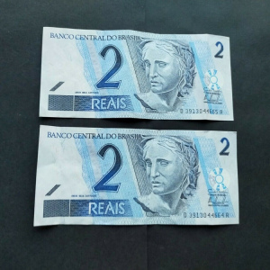 lot 2 billets de 2 reals