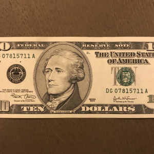 ETATS UNIS - USA - BILLET 10 DOLLARS - 2003