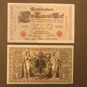 BILLET 1000 Reichsmark 1910 ALLEMAGNE UNC pick 44   GERMANY